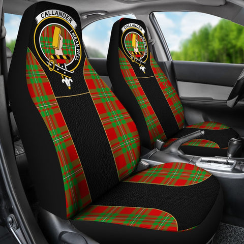 Tartan Car Seat Cover, Callander Clan Badge Special Version Scottish Car Seat Cover A9