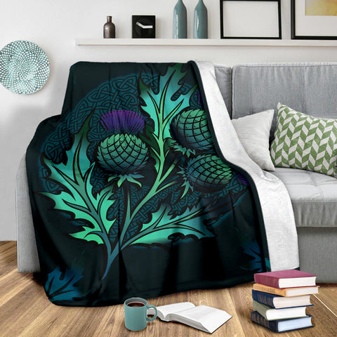 Beautiful Thistle and Celtic - Scotland Premium Blanket | Love Scotland