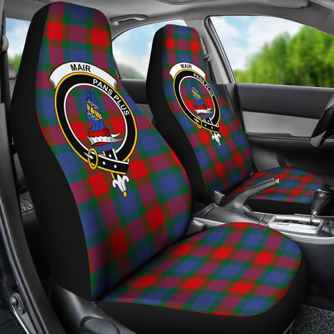 Tartan Car Seat Cover, Mair Clan Badge Scottish Car Seat Cover A9