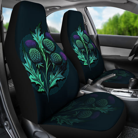 Beautiful Thistle and Celtic - Scotland Car Seat Covers | Love Scotland