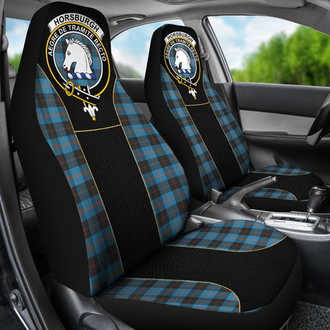 Tartan Car Seat Cover, Horsburgh Clan Badge Special Version Scottish Car Seat Cover A9