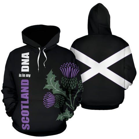 Image of Scottish Thistle Hoodie Black | Women and Men | 1stscotland