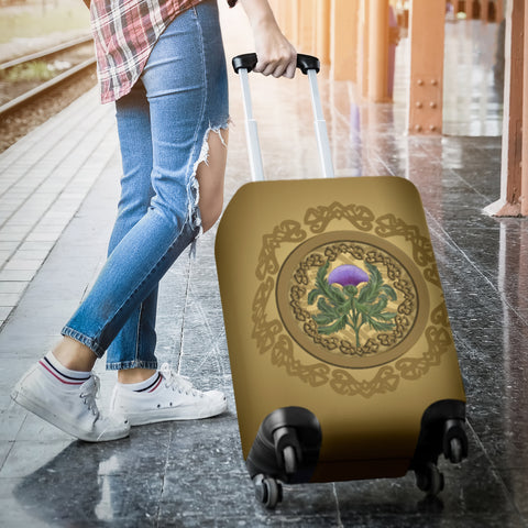 Luxurious Thistle Scottish - Luggage Cover | Special Custom Design