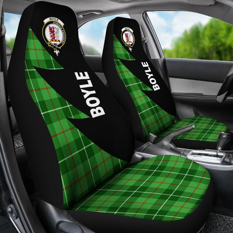 Tartan Car Seat Cover, Boyle Clans Flash Style - Scottish Car Seat Cover A9