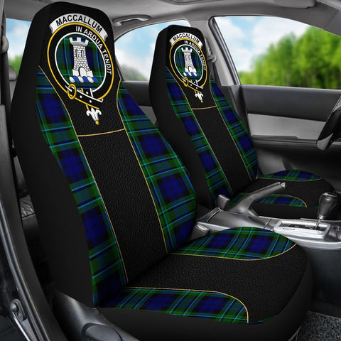 Tartan Car Seat Cover, Maccallum Clan Badge Special Version Scottish Car Seat Cover A9