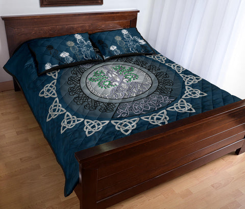 Scotland Quilt Bed Set - Celtic Tree Thistle A24