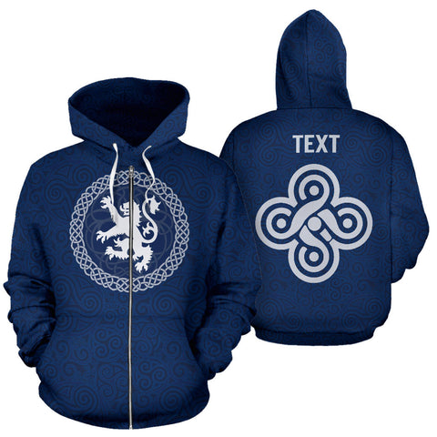 Image of Custom - Celtic Lion Zip Hoodie | Clothing | Love Scotland