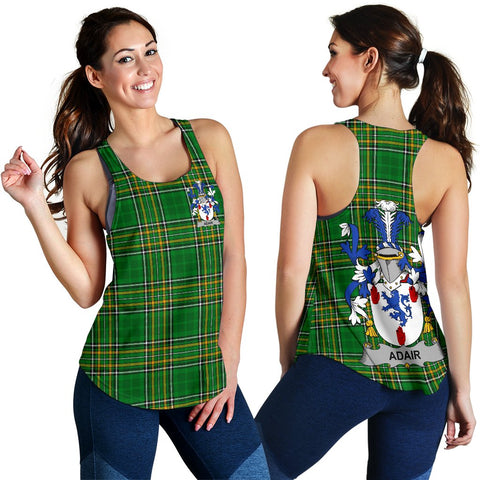 Adair Ireland Women's Racerback Tank - Irish National Tartan | Over 1400 Crests | Clothing | Apparel