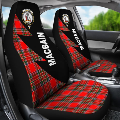 Image of Tartan Car Seat Cover, MacBain Clans Flash Style - Scottish Car Seat Cover A9