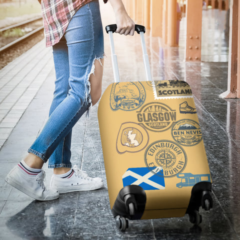 Image of Travel Stamp 01 - Scotland Luggage Cover | Special Custom Design