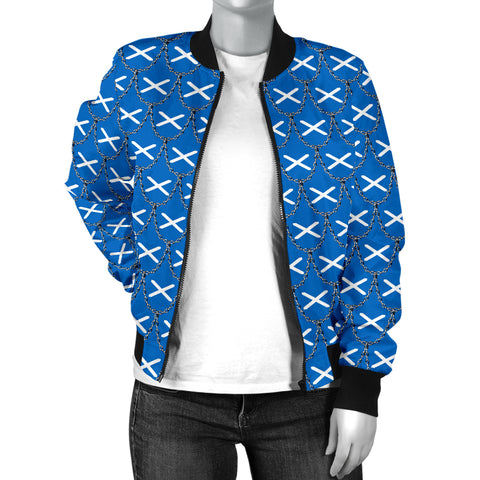 Scotland Flag And Chains Pattern Men's Bomber Jacket