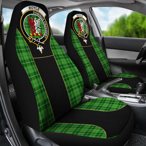 Tartan Car Seat Cover, Boyle Clan Badge Special Version Scottish Car Seat Cover A9