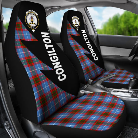 Tartan Car Seat Cover, Congilton Clans Flash Style - Scottish Car Seat Cover A9