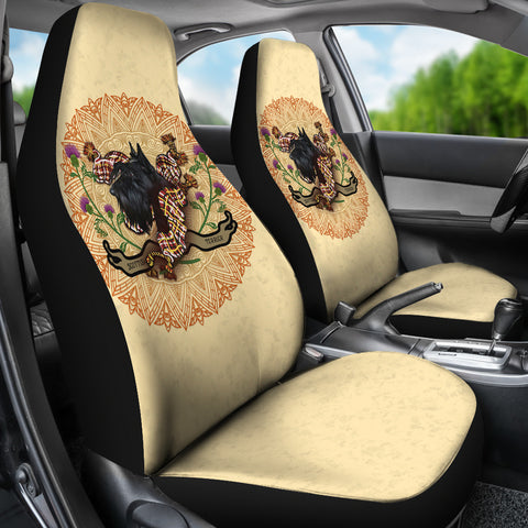 Scotland Car Seat Covers - Scottish Terrier Thistle A24