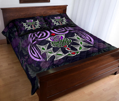 Image of Scotland Quilt Bed Set - Thistle Celtic Special A24