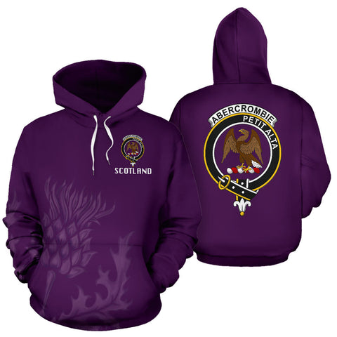 Abercrombie Crest Scottish Thistle Scotland Hoodie Purple | Clothing | 1stscotland