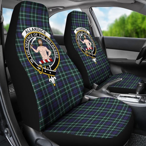 Image of Tartan Car Seat Cover, Allardice Clan Badge Scottish Car Seat Cover A9