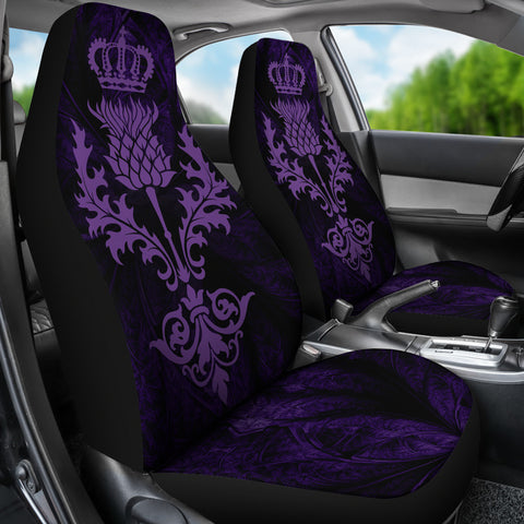 Scotland Luxury Thistle Car Seat Cover Violet Color TH0
