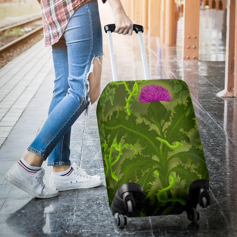 Scotland Luggage Covers - Thistle Special Green A24