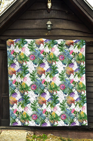Scottish Thistle 16th Pattern Premium Quilt