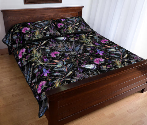 Scotland Quilt Bed Set - Dark Thistle | Love Scotland