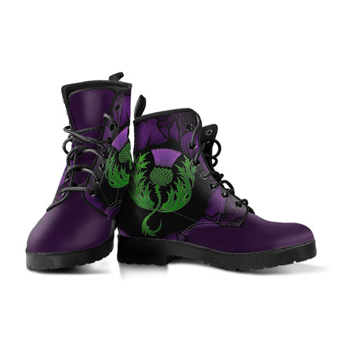 Scotland  Leather Boots - Celtic Thistle Purple | Love Scotland