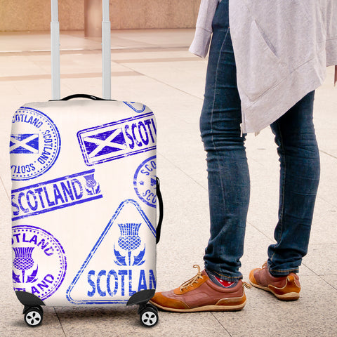 Travel Stamp 03 - Scotland Luggage Cover | Special Custom Design