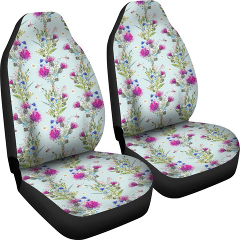 Scottish Thistle Pattern Car Seat Covers | Car Decor
