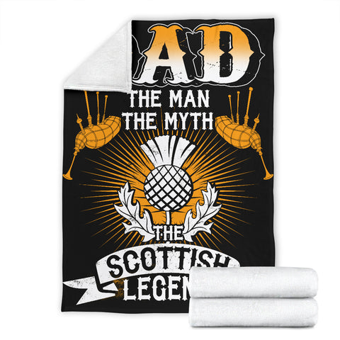 Dad - The Scottish Legend Premium Blanket | Love Scotland
