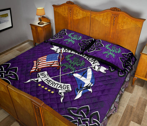 Scotland Quilt Bed Set -My Nation My Heritage Thistle A24