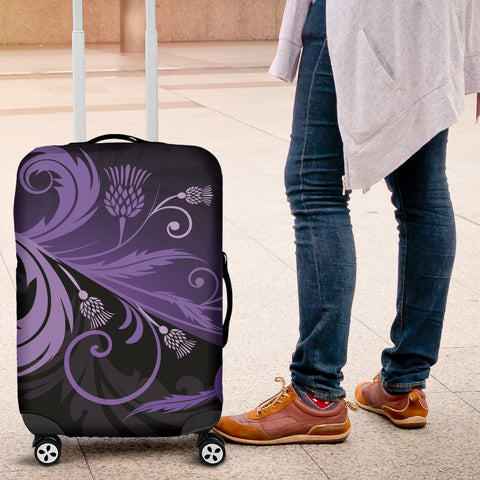 Purple Thistle Light Luggage Covers |Hot Sale| 1stscotland