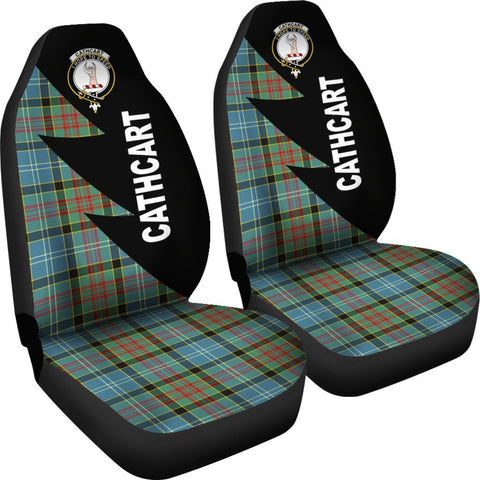 Tartan Car Seat Cover, Cathcart Clans Flash Style - Scottish Car Seat Cover A9
