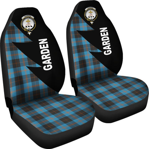Tartan Car Seat Cover, Garden Clans Flash Style - Scottish Car Seat Cover A9