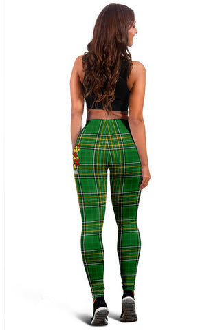 Alley Ireland Leggings Irish National Tartan | Over 1400 Crests | Clothing | Pant