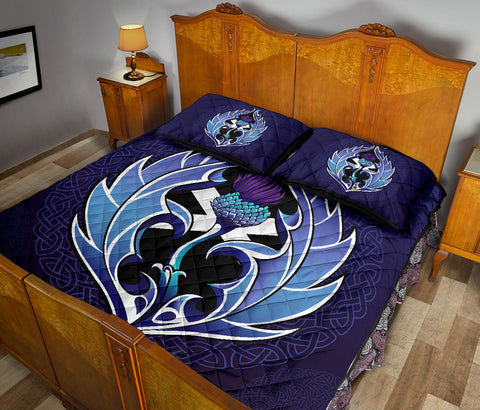Image of Scotland Quilt Bed Set - Purple Thistle and Celtic