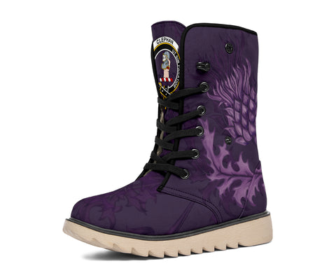 Clephan (or Clephane) Crest Scottish Thistle Scotland Polar Boots Purple | Over 300 Clans