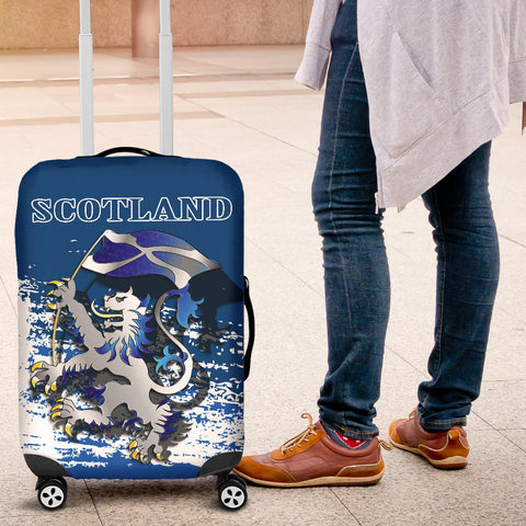 Scottish Rampant Lion Holding The Flag Luggage Cover