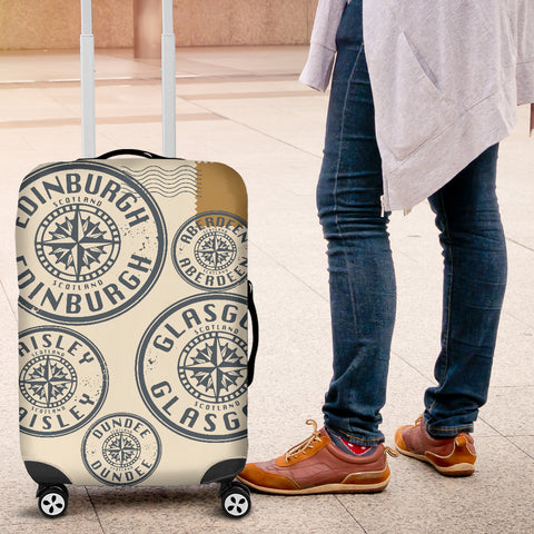 Travel Stamp - Scotland Luggage Cover | Special Custom Design
