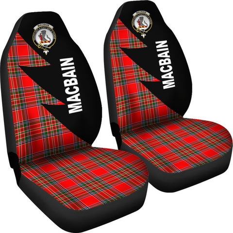Tartan Car Seat Cover, MacBain Clans Flash Style - Scottish Car Seat Cover A9