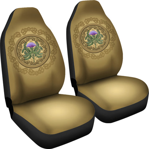 Luxurious Thistle Scottish - Car Seat Covers | Special Custom Design