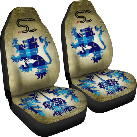 Tartan Car Seat Cover, McKerrell Lion and Thistle Special Style Scottish Car Seat Cover A9