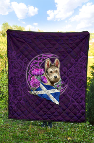 Scotland Premium Quilt Celtic Tree Of Life - Scottish Flag Terrier And Thistle Moon Celtic A18