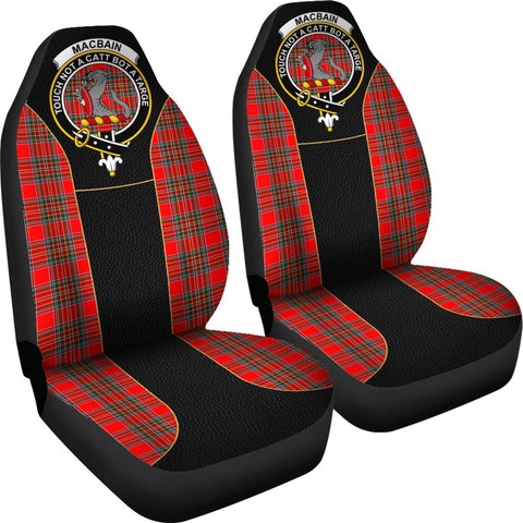 Tartan Car Seat Cover, Macbain Clan Badge Special Version Scottish Car Seat Cover A9