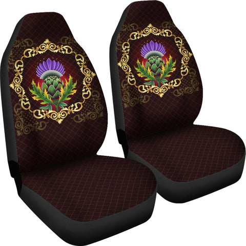 Scotland Car Seat Covers - Thistle Special Gold A24