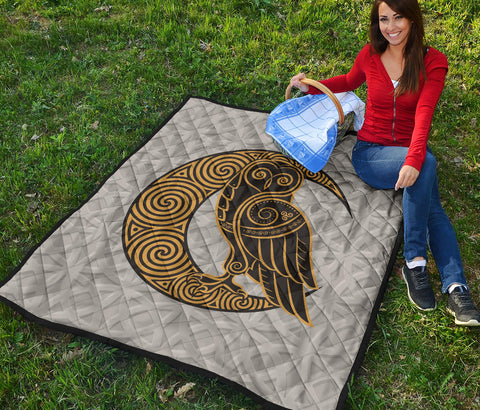 Celtic Owl Premium Quilt | Blanket | Home Decor