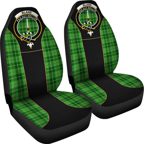 Tartan Car Seat Cover, Blane Clan Badge Special Version Scottish Car Seat Cover A9