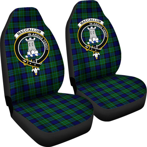 Tartan Car Seat Cover, Maccallum Clan Badge Scottish Car Seat Cover A9