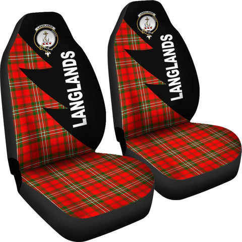 Tartan Car Seat Cover, Langlands Clans Flash Style - Scottish Car Seat Cover A9