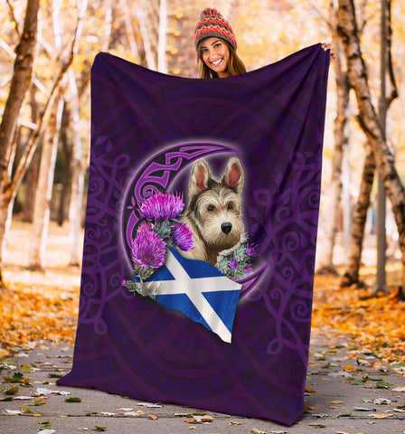 Scotland Premium Blanket Celtic Tree Of Life - Scottish Terrier And Thistle Moon Celtic A18