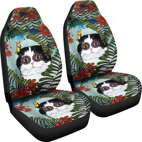 Hiding Scottish Fold Cat - Car Seat Covers | HOT Sale